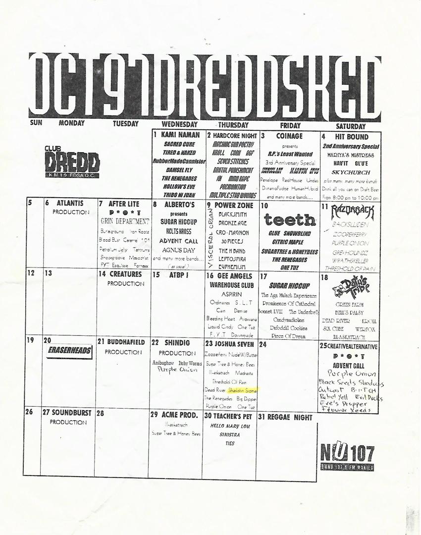 Hard Rock Cafe Makati Gig Schedule